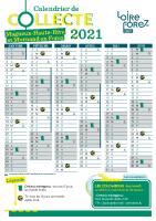 Calendrier de collecte 2021